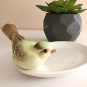 Bird Soap Jewelry Decorative Dish Key Holder